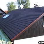 toit traité avec thermaSOL - aprés - noir
