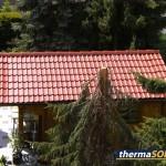 toit traité avec thermaSOL - rouge