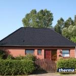 Maison traitée avec thermasol - noir