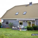 Maison traitée avec thermasol - couleur de sable